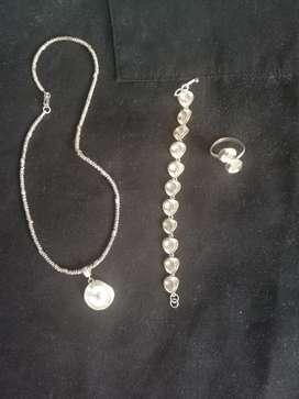 Collar de Plata950 Artesanía 4 Piezas