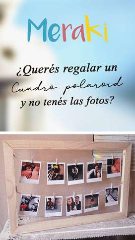 Cuadro Polaroid + 12 fotos!