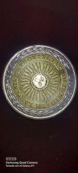 Moneda de 1 Peso X3 con error