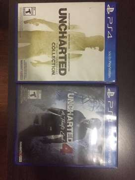 Uncharted nathan drake collection + uncharted a thief's end