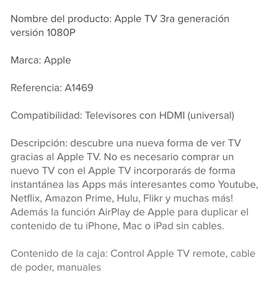 Se Apple TV. Tercera generación.