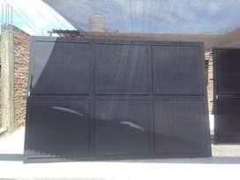 Portón de hierro y chapa nuevos reforzados (a medida)