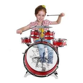 Batería De Cinco Tambores Para Niños Juguete big band