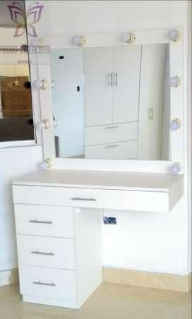 Espejo Tocador Mueble de melamina