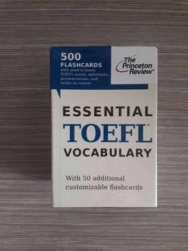 Tarjetas vocabulario esencial preparación examen Toefl