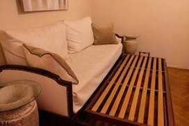Sofa Cama De Estilo 3 cuerpos (cama Inferior Deslizante)
