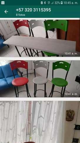 Se venden sillas barra