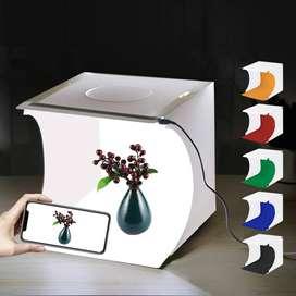 caja de luz fotografías estudio plegable led