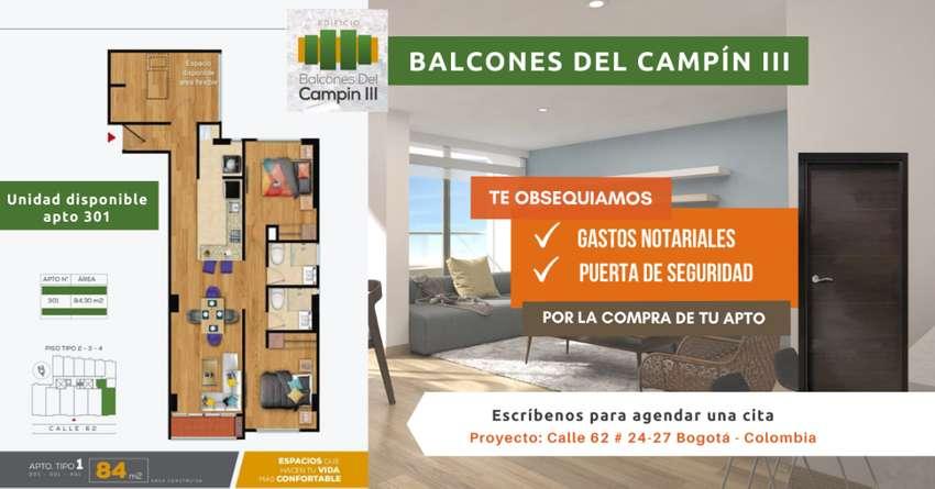 Apartamento Bogotá Barrio Campin Nuevos Constructora Tipo 1 0