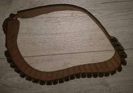 Cinturón Portacartucho Cal 12- CANANA DE Cuero- Antiguo -sin Uso- 75cm