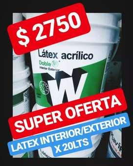 PINTURA INTERIOR EXTERIOR ALCANTARA X 20 LTS