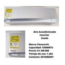 Vendo Aire acondicionado marca Panasonic