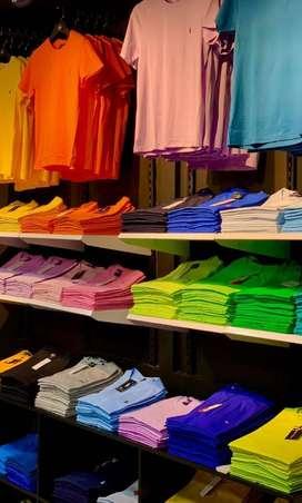Venta de camisas básicas multicolor todas las tallas