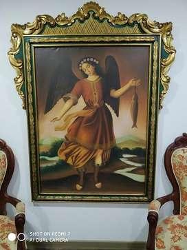 Hermosas Obras en óleo, Angeles San Rafael y San Miguel