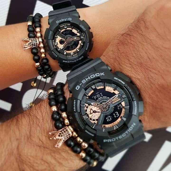 Reloj Casio pareja G Shock + baby G en oferta , garantía 0