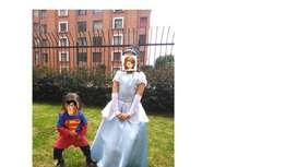 Disfraces de Superman y Cenicienta