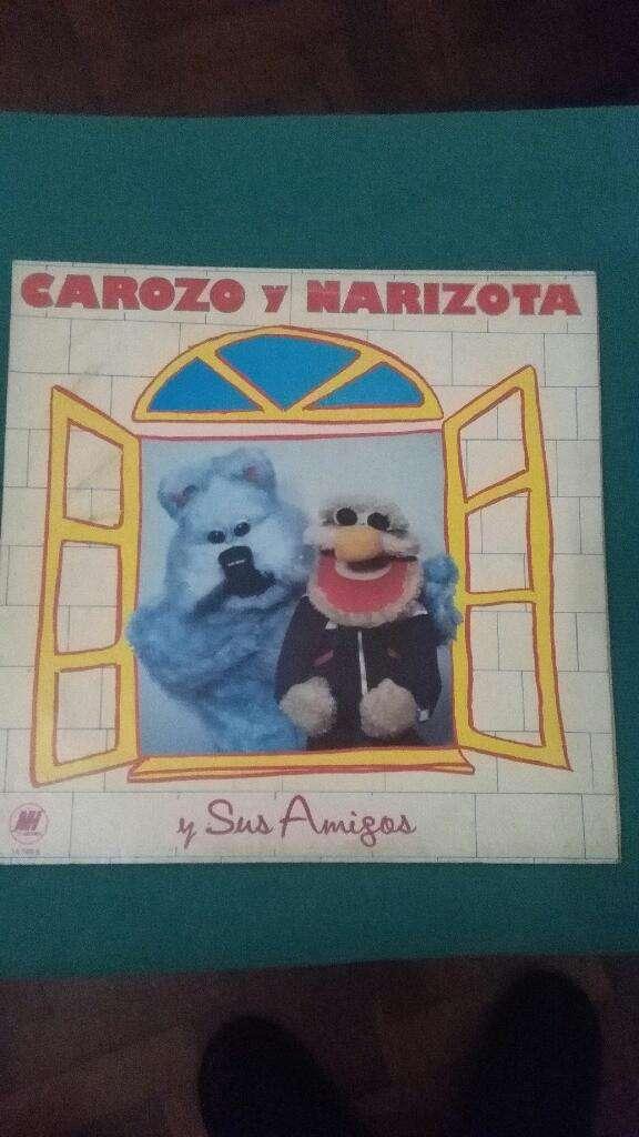 Original Disco vinilo Lp Carozo Narizota y sus amigos 1985 buen estado