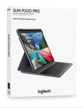 Case Con Teclado En Español Logitech Slim Folio Pro @ iPad Pro 12.9 2018