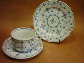 Trio De Antigua Porcelana De Bavaria Porzellanfabrik Mos