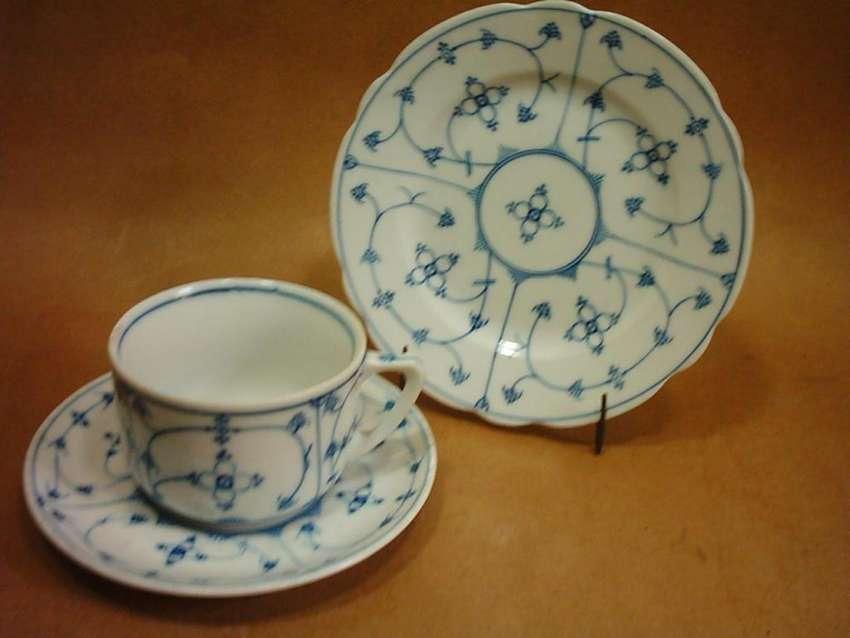 Trio De Antigua Porcelana De Bavaria Porzellanfabrik Mos 0