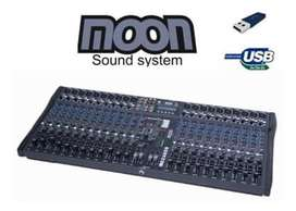 Moon Mc24 Consola Mixer Usb 24 Canales Profesional Estudio + Anvil.