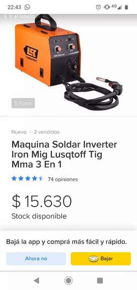 Vendo máquina de soldar lusqtoff