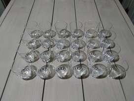 Vasos Cortos Antiguos de Vidrio para Bebidas Alcohólicas