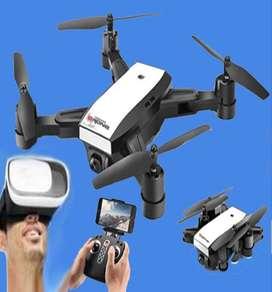 Drone NUEVO RETRACTIL ALTURA ESTABLE CAMARA HD WiFi FPV c/vista 3D en Vivo en Lentes Virtuales Dron MULTIFUNCION