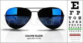 A64 Lentes De Sol Calvin Klein Jeans 61-14-140 (426) Azul Aviador