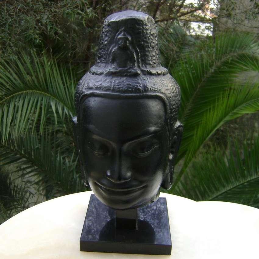 Escultura Cerámica Buda Angkor Bat Réplica Museo Louvre / Maxim Nord 0