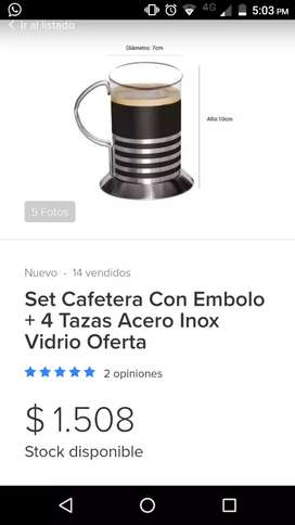 Cafe. Set cafetera