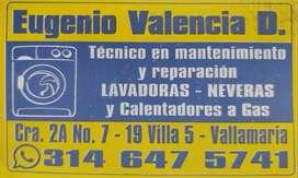 Mantenimieto y Reparación de Lavadoras, Neveras y Calentadores a Gas.