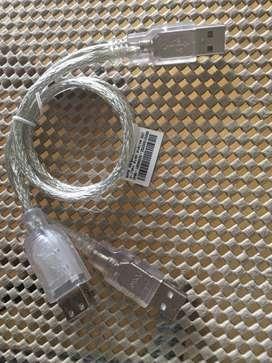 USB Extend Data cab1-A (2x1) L= 0.5m RoHS Transparent  Gembird Cable Cargador Adaptador Charger 2 in 1 USB to Micro Data