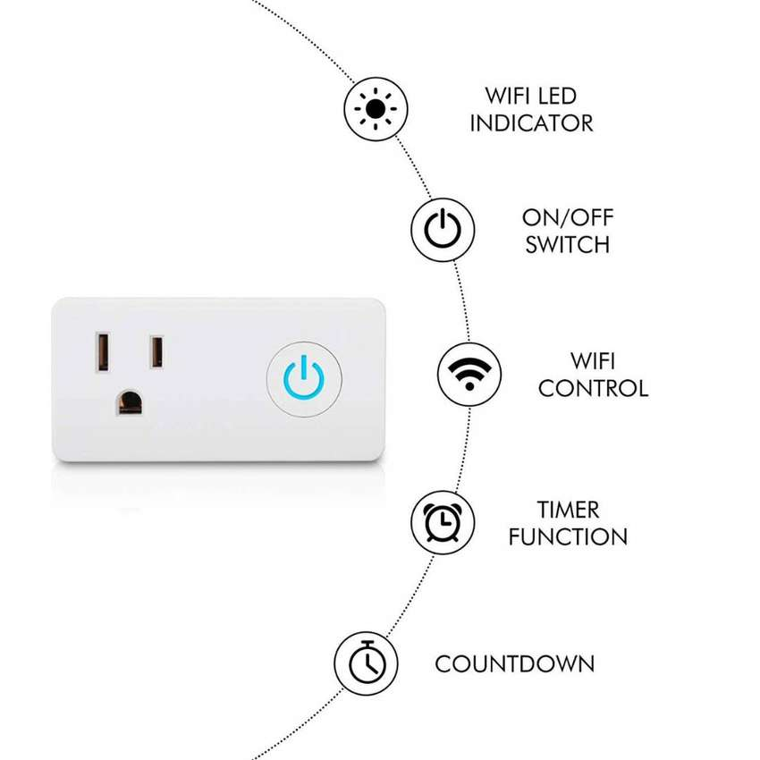 Toma Us Interruptor Wifi Inteligente Google Alexa 0
