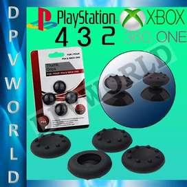 KIT 4 en 1 Silicon Joystick Analogos Control Ps4 Ps3 Xbox 360 One