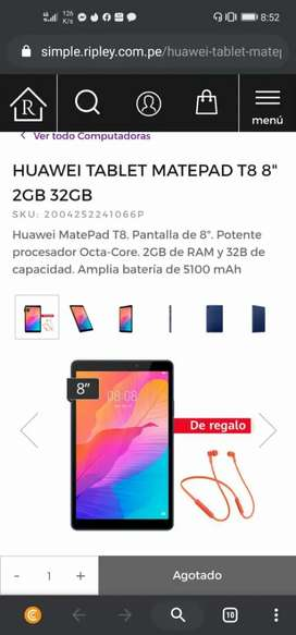 tablet huawei matepad t8 de 32 GB sellado