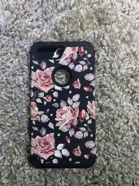 Estuche de Iphone 7 Plus Diseño Floreado Shock Resistente Nuevo