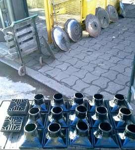embudo y rejilla para cemento 20 x20 y 30 x 30..salida vertical y horizontal de 64 o 100 mm. de salida..TUBOS LARRALDE