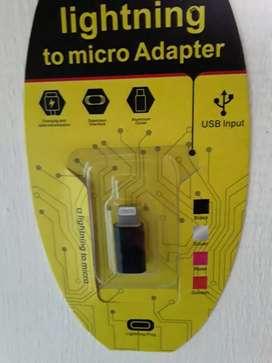 Micro adaptador Usb para Iphone