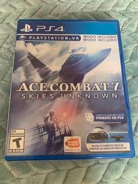 Juego ps4 ace combat 7