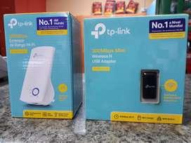 VENDO EXTENSORES TP-LINK PARA WIFI Y ADAPTADOR PARA PC DE WIFI