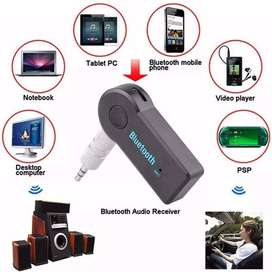 ADAPTADOR RECEPTOR BLUETOOTH PARA CARRO O AUDIFONOS CON CABLE