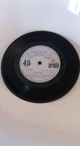 DISCO LP VINILO ÁNGELA CARRASCO QUIEREME, SI TE VAS. ARIOLO 45 RPM