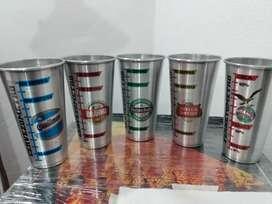 Vasos de aluminio marcas de cervezas x 1 lts.