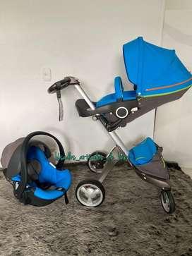 Coche de bebe stokke xplory con silla de carro