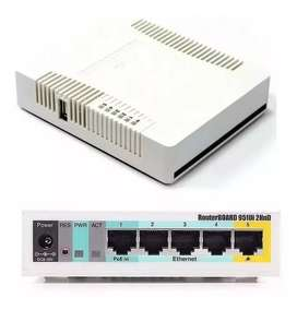 Router Mikrotik Rb951ui-2hnd 5 Puertos + Usb