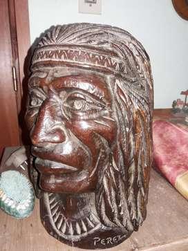 Escultura Cabeza de Indio