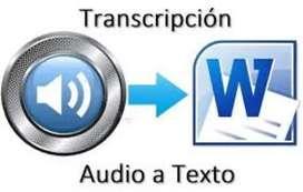 Transcripcion de audios a texto