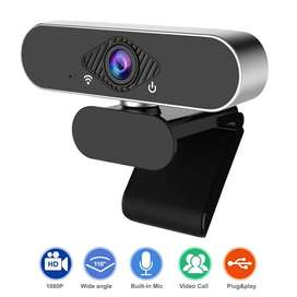 Cámara WebCam Pro FULL HD 1080p Con Micrófono Usb Videollama Zoom