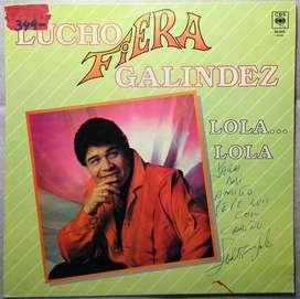 disco vinilo Lucho fiera Galindez lola lola